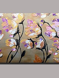 Hand Painted  Knife Flower Oil Painting with Stretched Frame Ready to Hang