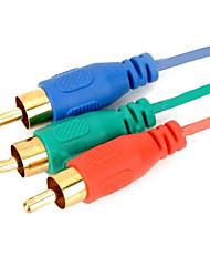 HDMI para 3RCA componente adaptador av cabo 1.5m 5 pés