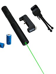 LT-08851  Green Laser Pointer (2MW, 532nm, 2x16340,Assorted Colors)