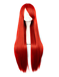 Cosplay Wigs Cosplay Cosplay Red Long Anime Cosplay Wigs 80 CM Heat Resistant Fiber