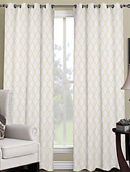 פאנל אחד טיפול חלון מעצב , גאומטרי חדר שינה פוליאסטר חוֹמֶר וילונות וילונות קישוט הבית For חַלוֹן