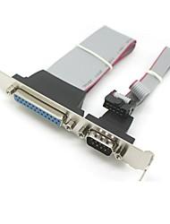 sériový DB9 pin com s paralelním DB25 pinů LPT kabelem s PCI slotu hlavička držáku