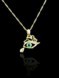 18K Real Gold Plated Evil Eye Pendant Necklace