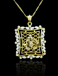 18K Real Gold Plated Allah Muslim Zircon Pendant 5.9*4CM
