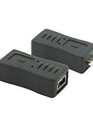 Micro USB 2.0 samec na mini USB 2.0 samice převodník zástrčka adaptéru
