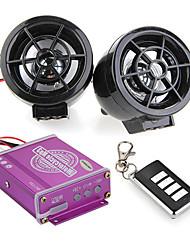 vattentät motorcykel ljud fjärr ljudsystem tf kort mp3 FM-radio svart