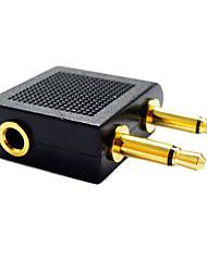 3,5 milímetros divisor de áudio 1 do sexo feminino para masculino 2 adaptador conversor de jack de 3,5 mm splitter