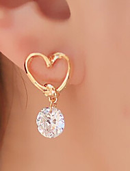 Drop Earrings Basic Heart Fashion Alloy Heart Golden Jewelry For Party Daily Casual 1set