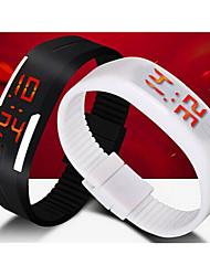 Unisex LED Digital Candy Color Silicone Strap Bracelet Sports Wristwatch Wrist Watch Cool Watch Unique Watch Fashion Watch