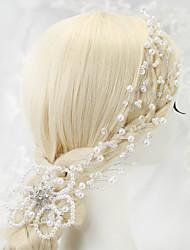 Bergkristal Kristallen Licht Metaal Imitatie Parel Helm-Bruiloft Speciale gelegenheden Hoofdketting 1 Stuk