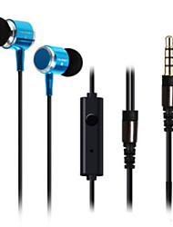 huast 3,5 mm In-ear hovedtelefoner super klar bas metal hovedtelefon støjisolerende earbud til iphone sony mp3 cellphone