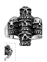טבעת פלדת על חלד Skull shape גילוי תכשיטים כסף תכשיטים Halloween יומי קזו'אל ספורט 1pc