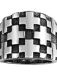 טבעת תכשיטים פלדת על חלד אופנתי שחור תכשיטים Halloween יומי קזו'אל 1pc