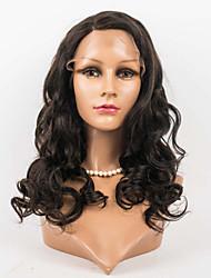 16inch blonder foran parykker berømthed stil 100% menneskehår mongolske jomfru hår krop bølge hår parykker til kvinder