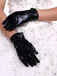 K zápěstí Bez špiček Rukavice Umělá kůže Pro nevěstu Celý rok Plisé