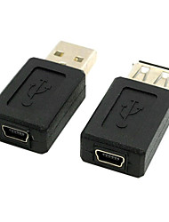 cy® male USB 2.0 na ženské mini USB adaptér