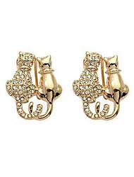 עגילי הגדר סגנון חיות ציפוי זהב Animal Shape זהב כסף תכשיטים ל Party יום הולדת יומי 1 זוג