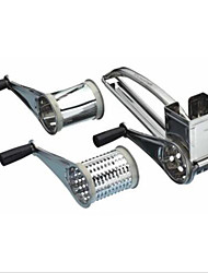Stainless Steel Handheld Rotary Cheese Grater Portable Creative Kitchen Craft with 7-8 Hole Cutter