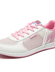 Women's Athletic Shoes Comfort Light Soles Tulle Spring Summer Fall Outdoor Athletic Casual Running Lace-up Wedge HeelBlushing Pink Blue