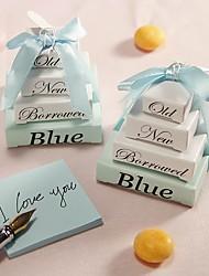 Practical Favors- 1pcs Adorable Something Blue Memo Note pad Wedding Keepsakes