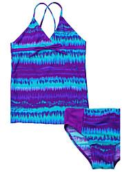 Girls' Stripes Fashion Swimwear,Polyester Nylon