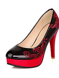 נשים-עקבים-PU-פלטפורמה נעלי מועדון להאיר נעליים-שחור כחול אדום בז'-חתונה שמלה מסיבה וערב-עקב סטילטו פלטפורמה