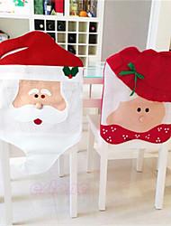 schöne Weihnachten Stuhlhussen mr& Frau Weihnachtsmann Weihnachtsdekoration Esszimmer Husse home party Dekor
