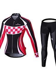 MALCIKLO® Cyklodres a čapáky Dámské Dlouhé rukávy Jezdit na koleProdyšné / Rychleschnoucí / Přední zip / Nositelný / Vysoká prodyšnost (>