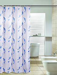 Contemporânea Poliéster 170*200cm ( L x W )  -  Alta qualidade Cortinas de Banheiro