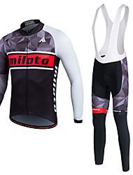 Esportivo Camisa para Ciclismo Homens / Unissexo Manga Comprida MotoRespirável / Mantenha Quente / Secagem Rápida / Forro de Velocino /