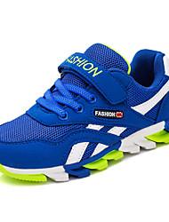 לבנים-נעלי ספורט-PU-נוחות-כחול אדום כחול ים-יומיומי-עקב שטוח