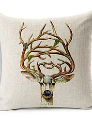1 pcs Algodão/Linho Almofada de Corpo / almofada do sofá,Estampado Animal Moderno/Contemporâneo