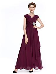 2017 lanting bride® une ligne mère de la robe de mariée cheville longueur sans manches en mousseline de soie avec criss cross / cristal