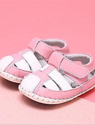 Sandály-Kůže-Kulatá špička / Sandály-Dívčí-Modrá / Růžová-Běžné-Plochá podrážka