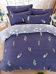 bedtoppings šidítko peřina quilt cover 4ks set queen size Plošný útvar povlak na polštář peří otisky z mikrovlákna