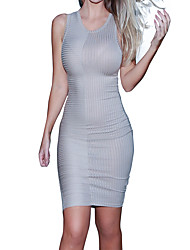 Women's Going out / Party / Club Sexy / Simple Bodycon DressSolid / Letter Round