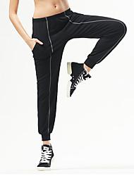 מכנסיים יוגה מכנסיים נושם / נוח טבעי מתיחה בגדי ספורט שחור יוניסקס ספורטיבי יוגה / טקוונדו / איגרוף / ספורט פנאי / ריצה