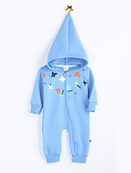 Girl's Casual/Daily Print Overall & JumpsuitCotton Fall Blue