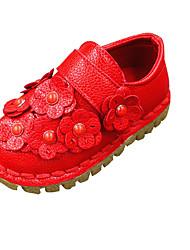 Nokasíny-PU-Pohodlné-Dívčí-Růžová / Červená / Bílá-Běžné-Plochá podrážka