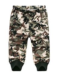 Men's Summer Green Camouflage Casual Sport Plus Size Cotton Elastic Sweatpants Short Pants