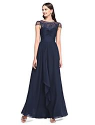 2017 Lanting bride® podłogi długość szyfonu / koronki elegancka sukienka druhna - Bateau-line z koronką