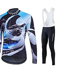 Esportivo Camisa para Ciclismo Mulheres / Homens / Unissexo Manga Comprida MotoRespirável / Mantenha Quente / Secagem Rápida / Forro de
