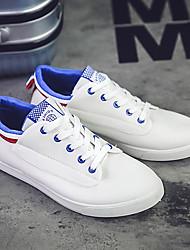 גברים-נעלי ספורט-קנבס-נוחות-שחור כחול ירוק-שטח-עקב שטוח