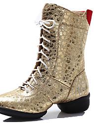 Sapatos de Dança(Prateado / Dourado) -Feminino-Não Personalizável-Moderna / Botas de dança