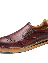 Men's Loafers & Slip-Ons Spring Fall Winter Others Leather Office & Career Casual Gore Black Brown Others