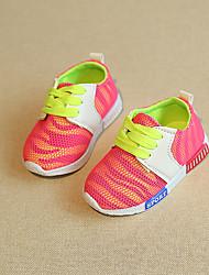 לבנים-נעלי ספורט-טול-נוחות-כחול / ורוד-קז'ואל-עקב שטוח