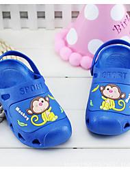Sandály-PVC-Pohodlné-Unisex-Modrá / Růžová / Červená-Outdoor / Běžné-Plochá podrážka