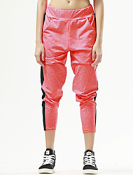 מכנסיים יוגה מכנסיים נושם / ייבוש מהיר / דחיסה טבעי מתיחה בגדי ספורט שחור / כתום לנשים ספורטיבייוגה / טקוונדו / כושר גופני / ספורט פנאי /