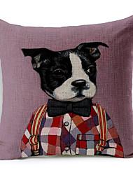 1 pcs Algodão/Linho almofada do sofá / Fronha / Almofada de Corpo,Inovador / Estampado Animal Moderno/Contemporâneo