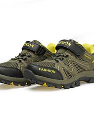 לבנים-נעלי ספורט-PU-נוחות-חום ירוק-יומיומי-עקב שטוח